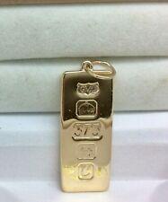 Lingote Colgante de oro de 9ct