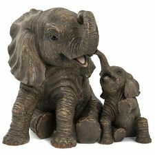 Lesser and Pavey Large Jungle Elephant With Baby Calf LP40964 Ornament Figure