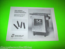 COCKTAIL TABLE LEGS ACCESSORY By MIDWAY 1981 ORIGINAL VIDEO ARCADE GAME FLYER