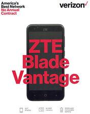 Verizon ZTE Blade Vantage 4G LTE Prepaid Smartphone Android 7.1 Quad-Core 16GB