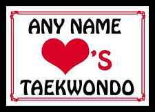 Amor Corazón Taekwondo Personalizada Mantel Individual