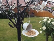 Cup and Saucer Hanging Bird Feeder