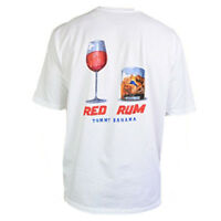 TOMMY BAHAMA Men's T-Shirt RED RUM Red Wine Rum On The Rocks Summer Tee S M L XL