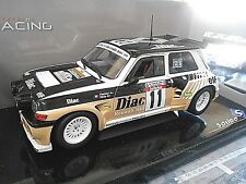 RENAULT 5 Maxi Turbo Rallye Chatriot TdC #11 Diac Gr.B Solido Schuco SP 1:18