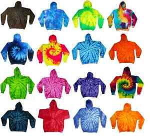 Tie Dye Multi-Color Hoodies, Kids Sizes 80% Cotton, L/S, Pockets No Zipper