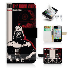 ( For iPhone 5 / 5S / SE ) Wallet Case Cover! Star Wars Darth Vador P1381