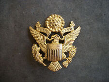 WWII US Army officer hat badge pin eagle RARE Luxenborg English made theater