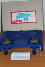 DDR GDR Desca Spirituskocher Vintage Spirit Alcohol Camp Stove Double Burner