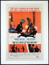 IN THE HEAT OF THE NIGHT 1967 FILM MOVIE POSTER PAGE . SIDNEY POITIER . S33