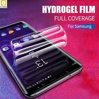 Screen Protector 3D Sticker Silicone Full Cover Hydrogel Film For Samsung Galaxy