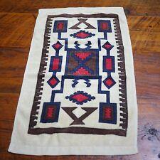 Vintage Southwestern Pattern Khaki Blue Red 100% Cotton Small Bathroom Hand Towe