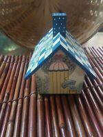 Adorable Vintage Tea Bag Holder Wooden Cottage House Country Decor