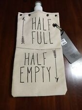Tote + Able Wine + Beverage Canteen Half Full Half Empty Reusable Canvas Flask