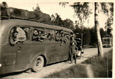 Foto, Bus fährt von Polen nach Ostpreußen 1941 (N)20652