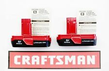 (2) NEW CRAFTSMAN 19.2v VOLT CORDLESS COMPACT LITHIUM-ION BATTERY BATTERIES 2011