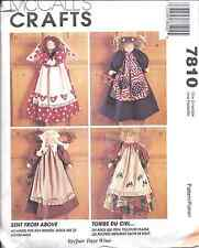 "7810 UNCUT McCalls SEWING CRAFT Pattern 22"" Angels Dolls Faye Wine Sent Above FF"