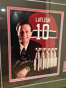 Guy Lafleur Montreal Canadiens Signed Framed Photo