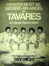 Tavares 1976 promo poster ad We Don'T Mean To Harp.