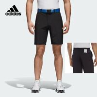 New ADIDAS Climacool Mens Golf Shorts 3 Stripe BLACK 30in 32in - Stretch Fit