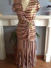 JOSEPH RIBKOFF Robe effectivement est une jupe longue et haut 2 pièces métallique 10 -12