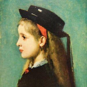 ALSATIAN GIRL, ARTIST HENNER POSTCARD