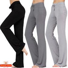 Ladies Yoga Pants Sports Gym Leggings Trousers Straight Leg Flare Keep Fit L891