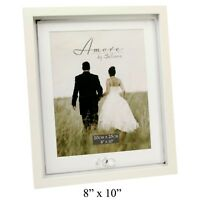 """Wedding Day Photo Frame with Silver Plated Rings 8""""x10"""""""