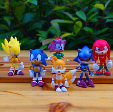 6Pcs Sonic The Hedgehog Action Figure Toy Set Collection Kids Gift Toy