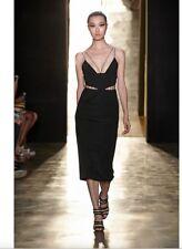 NEW Cushnie Et Ochs RUNWAY Black Cutout String Dress Sz 8