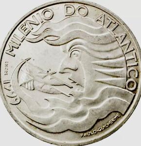 Portugal 🇵🇹 Silver Coin 1000$ Escudos 1999 Atlantic Sailing 1000 Years Pre-€