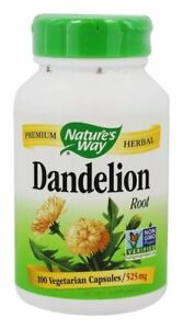 Nature's Way Dandelion Root 525 mg - 100 capsules AMAZING HEALTH HERB