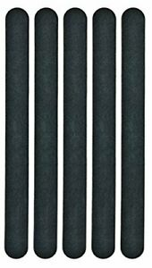 Hive of Beauty Black Beauty natural nail Files - 5 pack for manicure or pedicure