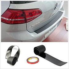 Black Car Rear Door Sill Guard Bumper protector Body Scratch Trim Cover Strip