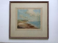 Original SIGNED  Colored Etching by R. Herdman Smith ( culver cliff sandown )