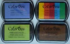 LOT OF 4 Color Box Pigment Ink Stamp Pad VARIOUS COLORS Sealed! Brand NEW!