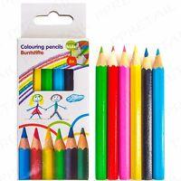 12Pc GIRLS SHOPKINS COLOURING PENCILS SET METAL CASE Art Kids//Childrens School
