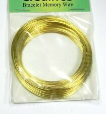 """Memory Wire Gold Stainless Steel 2-1/4"""" Bracelet 0.75mm  1 ounce Apx 50 Loops."""