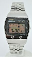Retro Seiko LCD LC chronograph digital watch