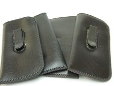 Eyeglasses Soft Cases With Pocket Clips Two Brown & Two Black  total 4 Cases