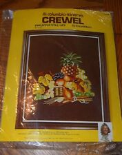 Columbia Minerva Crewel kit PINEAPPLE STILL LIFE # 7635