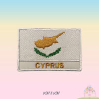 Cyprus National Flag With Name Embroidered Iron On Patch Sew On Badge Applique
