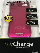 myCharge iPhone 4/4S Battery Case with Integrated Flip Top - Pink 1500mAh 4 / 4S