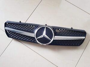 Mercedes CL C215/W215 1 Fin Front Grille Chrome/Black