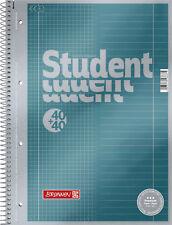 Brunnen A4 Collegeblock Student Premium 90g/m² Auswahl 80 Blatt kar. lin. Noten