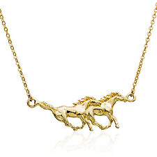 Gold Filled 14K necklace Horse pendant handmade jewelry