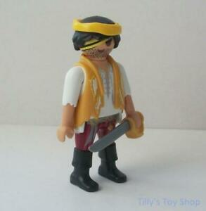 Playmobil     Pirate Ship Figure with Eye-Patch and plastic Sword  -    NEW