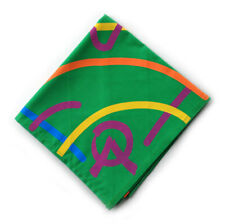1999 World Jamboree:PARTICIPANT NECKERCHIEF (GREEN) Official Boy Scout Item, New