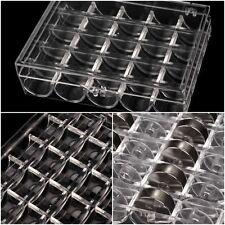 Spulenbox leer / ungefüllt, universal für 25 Spulen | Unterfaden Nähspulen Box