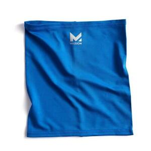 MISSION Compact Cooling Neck Gaiter Face/Neck Cover/Mask - BLUE