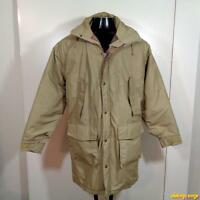 LANDS' END Cotton/Nylon Ski JACKET Parka Mens Size M beige insulated hooded